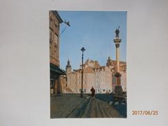 Postcard Warszawa Kolumna Zygmunta  Warsaw The King Sigismund Column  Poland My Ref B21435 - Poland
