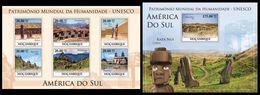 MOZAMBIQUE 2010 - UNESCO South America 2 - Mi 3872-7 + B347 - Archéologie