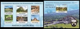 MOZAMBIQUE 2010 - UNESCO North America - YT 3230-5 + BF296 - Archéologie