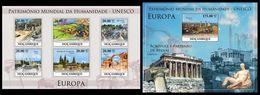 MOZAMBIQUE 2010 - UNESCO Europe 3 - YT 3188-93 + BF289 - Archeologie