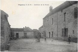 77 ORGENOY - Intérieur De La Ferme - Animée - Francia