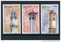 Malaysia 2007 S#1157-1159 Clock Towers MNH Historical Buildings - Malaysia (1964-...)