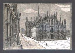 Postal Con Superficie Plateada. *Milano. Il Duomo* Sin Datos Nº 201. Nueva. - Materiales