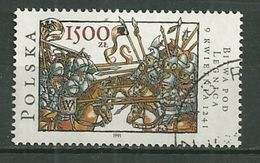 POLAND Oblitéré 3122 Anniversaire De La Bataille De Liegnitz Combat Troupe - 1944-.... Repubblica
