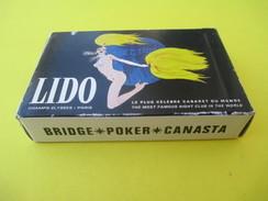 Jeu De Cartes Publicitaire/54 Cartes/ LIDO/Blanc /  Le Plus Célèbre Cabaret Du Monde/ Années 60     CAJ28 - 54 Cards