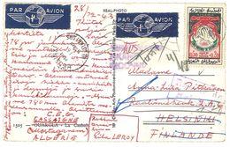 Cpsm Algérie - Ouargla - La Casbah ( Envoyée Par Avion ) - Ouargla