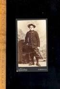 Photographie Carte De Visite CDV : Militaire Soldat Chasseur Alpin 22 Eme Régiment / Photographe  A DETRAZ à Albertville - Guerre, Militaire