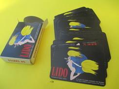 Jeu De Cartes Publicitaire/54 Cartes/ LIDO/Rouge  /  Le Plus Célèbre Cabaret Du Monde/ Années 60     CAJ29 - 54 Carte