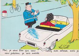 Lot 3 CPM 10X15 . Illust . René Caillé . Fantaisie Femme Au Volant / Contravention - Otros Ilustradores