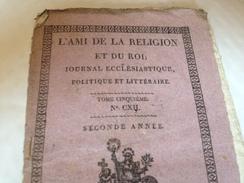 L'AMI DE LA RELIGION ET DU ROI , 6 Septembre 1815 - Journaux - Quotidiens