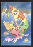 Postal Con Superficie Plateada. *Teddy Club - Windsurfing* Ed. Dufex Nº 501827. Nueva. - Materiales
