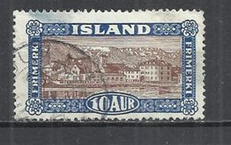 ICELAND 1925 - VIEWS OF ICELAND - REYKJAVIK - OBLITERE USED GESTEMPELT USADO - 1918-1944 Autonomous Administration