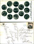 88270) Cartolina Con La Serie Delle Monete Emesse Dal Vaticano Per I Patti Lateranensi-viaggiata - Monnaies (représentations)