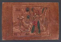Postal De Piel. *Souvenirs De España. Rdo. De Canarias* Leather Postcard. Ed. Mamache. Nueva. - Materiales