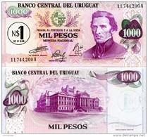 URUGUAY 1 On 1000 Peso Nuevo  ND(1975) P- 56 **UNC** - Uruguay