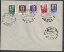 ITALIE - Série Surchargée N° 21 à 25 Sur Enveloppe - Oblitération Cachets Arcidosso- Crosseto 4-6-1944 -  TB - - 4. 1944-45 Repubblica Sociale
