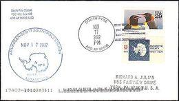2002 SOUTH POLE ANTARCTIC CACHET FOR AMUNDSEN-SCOTT POLE STATION - Postal History
