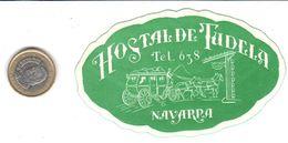 ETIQUETA DE HOTEL  -HOSTAL DE TUDELA  -NAVARRA - Hotel Labels