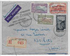 REUNION - 1937 - ROLAND GARROS - LIAISON AEROPOSTALE RETOUR => FRANCE - ENV. RECO Avec PA N°1  SIGNEE - - Réunion (1852-1975)