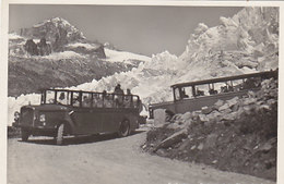 Alte, Offene Saurer-Postautos Beim Rhonegletscher - Grossaufnahmen - 1936     (P-59-60716) - Poste & Facteurs