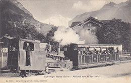 Schynige Platten Bahn - Abfahrt Von Wilderswil - Schöne Grossaufnahme - 1912     (P-59-60716) - BE Berne