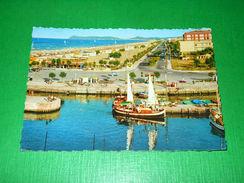 Cartolina Riccione - Lungomare E Spiaggia 1960 - Rimini