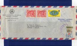 POSTAL HISTORY-Nicaragua-Managua- 5-10-1963 -  Airmail  Cover To Italy - Nicaragua