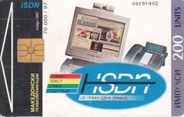 MACEDONIA - ISDN, Chip GEM1.2, Tirage 70000,04/97 ,200 U, Used - Macedonia