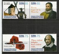 400 Ans De La Disparition De Shakespeare & Cervantes (1616). Série Complète Neuve ** Année 2016 - Ecrivains