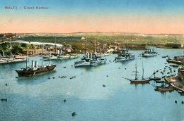 MALTA - Grand Harbour (with Warships Etc) 1915 - Malta