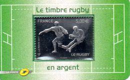 France.timbre Adhesif Rugby En Argent De 2011.n**. - France