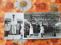 World Athletes - Champions Of The Moscow  Olympic Games - Old Postcard - 1981 Arch Archery - Tir à L'Arc