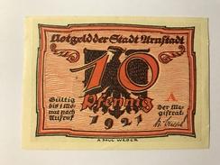 Allemagne Notgeld Arnstadt 10 Pfennig - Collections