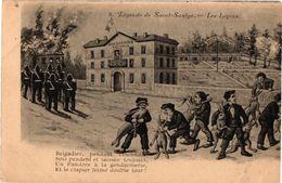 LEGENDE DE SAINT SAULGE ... LES LAPINS ... GENDARMERIE .. GENDARMES  . - Police - Gendarmerie