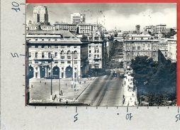 CARTOLINA VG ITALIA - GENOVA - Via XX Settembre - 10 X 15 - ANN. 1955 - Genova