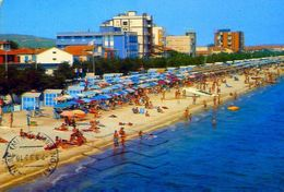 Marotta - Pesaro - Alberghi E Spiaggia - 025 - Formato Grande Viaggiata - E 2 - Pesaro
