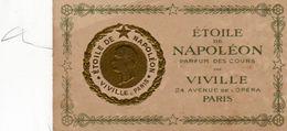 Ancienne Carte Parfumée  ETOILE DE NAPOLEON PARFUM DES COURS - VIVILLE  24  Avenue De L' Opéra  PARIS - Perfume Cards