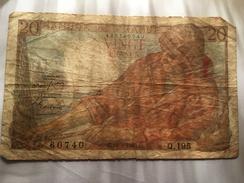 "Billet 20 Francs ""Pécheur"" 1949 - 1871-1952 Circulated During XXth"