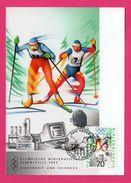 Carte Maximum - Ski - Olympische Winterspiele Albertville 1992 - Liechtenstein H.J. ANDEREG - Vaduz - Winter 1992: Albertville