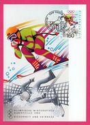 Carte Maximum - Descente Ski - Olympische Winterspiele Albertville 1992 - Liechtenstein H.J. ANDEREG - Vaduz - Winter 1992: Albertville