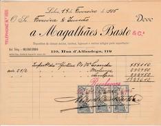 Invoice * Portugal * Lisboa * 1905 * A. Magalhães Basto & Cª - Portugal