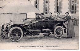 Guerre Européenne 1914 - Infirmières Anglaises / Oldtimer - Guerre 1914-18