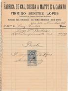 Invoice * Portugal * Lisboa * 1907 * Fabrica De Cal, Cosida A Matto E A Carvão - Portugal