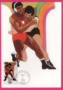 Carte Maximum - Lutte - Los Angeles CA 1984 - USA 20 C - 1984 - ROBERT PEAK - Summer 1984: Los Angeles