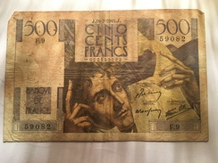 Billet 500 Frs 1945 Chateaubriand   RARE - 1871-1952 Circulated During XXth