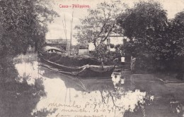 Philippines, Casco Barge Boat In Canal Transportation C1900s Vintage Postcard - Philippines