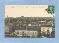 Rennes (35) Vue Panoramique Prise Du Pensionnat Ste-Geneviève Faubourg De Nantes Vue Générale 2 Scans 02/05/1910 - Rennes