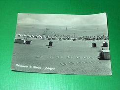 Cartolina Miramare Di Rimini - Spiaggia 1957 - Rimini