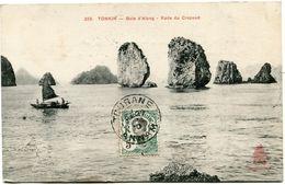 INDOCHINE CARTE POSTALE AVEC OBLITERATION TOURANE 29 AVRIL 10 ANNAM POUR LA FRANCE - Cartoline