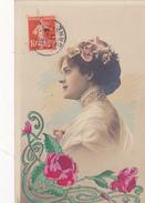 61. CETON (ENVOI DE) CARTE FANTAISIE. CPA . PORTRAIT DE FEMME. ANNÉE 1911 - Femmes